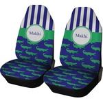 Alligators & Stripes Car Seat Covers (Set of Two) (Personalized)