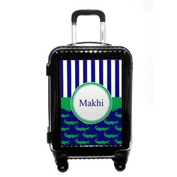 Alligators & Stripes Carry On Hard Shell Suitcase (Personalized)