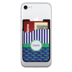 Alligators & Stripes 2-in-1 Cell Phone Credit Card Holder & Screen Cleaner (Personalized)