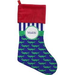 Alligators & Stripes Christmas Stocking (Personalized)