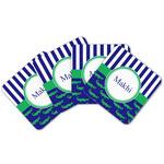 Alligators & Stripes Cork Coaster - Set of 4 w/ Name or Text