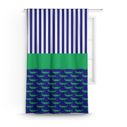 Alligators & Stripes Curtain (Personalized)