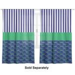 "Alligators & Stripes Curtains - 40""x63"" Panels - Unlined (2 Panels Per Set) (Personalized)"