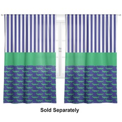 "Alligators & Stripes Curtains - 40""x54"" Panels - Unlined (2 Panels Per Set) (Personalized)"