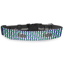 """Alligators & Stripes Deluxe Dog Collar - Extra Large (16"""" to 27"""") (Personalized)"""
