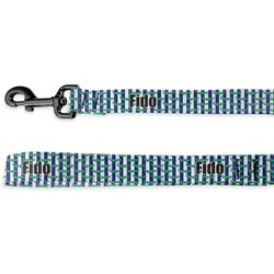 Alligators & Stripes Deluxe Dog Leash (Personalized)