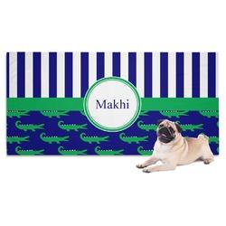 Alligators & Stripes Dog Towel (Personalized)