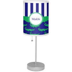 "Alligators & Stripes 7"" Drum Lamp with Shade (Personalized)"