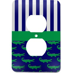 Alligators & Stripes Electric Outlet Plate (Personalized)