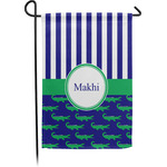 Alligators & Stripes Garden Flag - Single or Double Sided (Personalized)