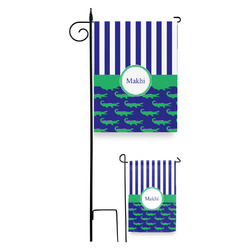 Alligators & Stripes Garden Flag (Personalized)