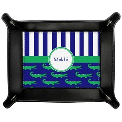 Alligators & Stripes Genuine Leather Valet Tray (Personalized)