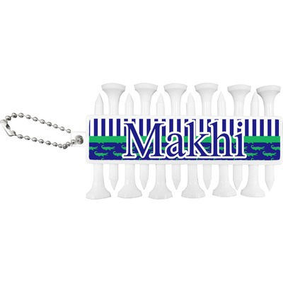 Alligators & Stripes Golf Tees & Ball Markers Set (Personalized)