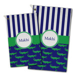 Alligators & Stripes Golf Towel - Full Print w/ Name or Text