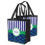 Alligators & Stripes Grocery Bag (Personalized)