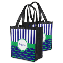 Alligators & Stripes Grocery Bag (Personalized)