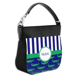 Alligators & Stripes Hobo Purse w/ Genuine Leather Trim (Personalized)