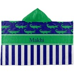 Alligators & Stripes Kids Hooded Towel (Personalized)