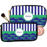 Alligators & Stripes Makeup / Cosmetic Bag (Personalized)