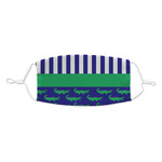 Alligators & Stripes Kid's Cloth Face Mask (Personalized)