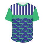 Alligators & Stripes Men's Crew T-Shirt (Personalized)