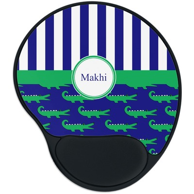 Alligators & Stripes Mouse Pad with Wrist Support