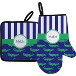 Alligators & Stripes Oven Mitt & Pot Holder (Personalized)