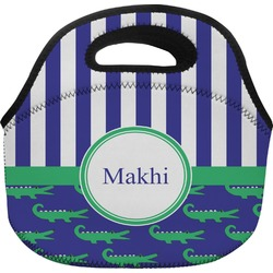 Alligators & Stripes Lunch Bag (Personalized)