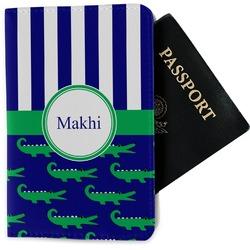 Alligators & Stripes Passport Holder - Fabric (Personalized)