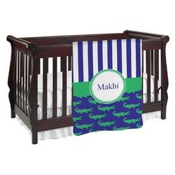 Alligators & Stripes Baby Blanket (Personalized)