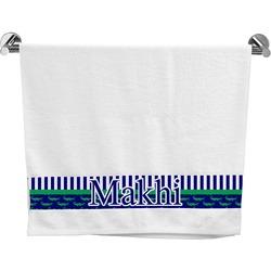 Alligators & Stripes Bath Towel (Personalized)