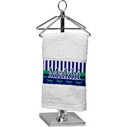 Alligators & Stripes Cotton Finger Tip Towel (Personalized)