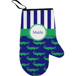 Alligators & Stripes Right Oven Mitt (Personalized)