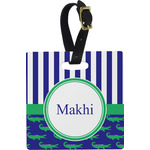 Alligators & Stripes Luggage Tags (Personalized)