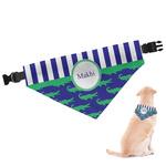 Alligators & Stripes Dog Bandana (Personalized)