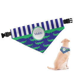 Alligators & Stripes Dog Bandana (Personalized)