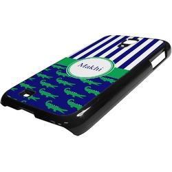 Alligators & Stripes Plastic Samsung Galaxy 4 Phone Case (Personalized)