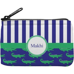 Alligators & Stripes Rectangular Coin Purse (Personalized)