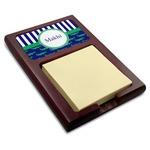 Alligators & Stripes Red Mahogany Sticky Note Holder (Personalized)