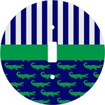 Alligators & Stripes Round Light Switch Cover (Personalized)