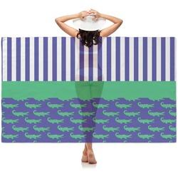 Alligators & Stripes Sheer Sarong (Personalized)