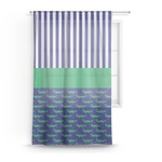 Alligators & Stripes Sheer Curtains (Personalized)