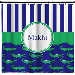Alligators & Stripes Shower Curtain (Personalized)
