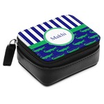 Alligators & Stripes Small Leatherette Travel Pill Case (Personalized)