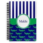 Alligators & Stripes Spiral Bound Notebook (Personalized)