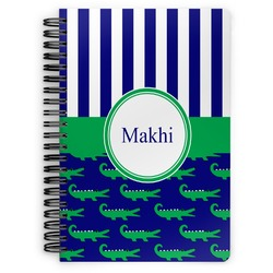 Alligators & Stripes Spiral Bound Notebook (Personalized)