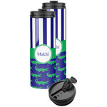 Alligators & Stripes Stainless Steel Skinny Tumbler (Personalized)