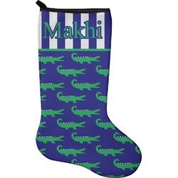 Alligators & Stripes Christmas Stocking - Neoprene (Personalized)
