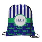 Alligators & Stripes Drawstring Backpack (Personalized)