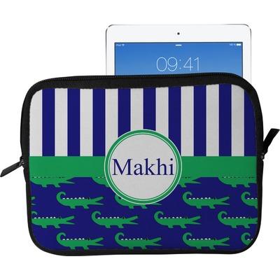 Alligators & Stripes Tablet Case / Sleeve - Large (Personalized)